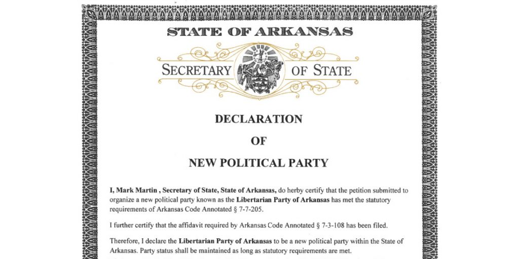 "Libertarians Submit ""New Political Party"" Petitions 