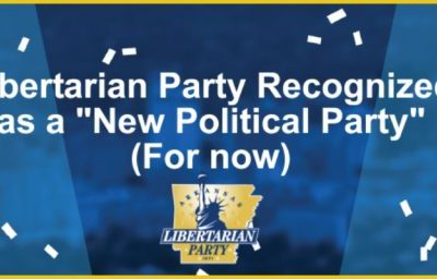 Libertarian Party Recognized (for now)